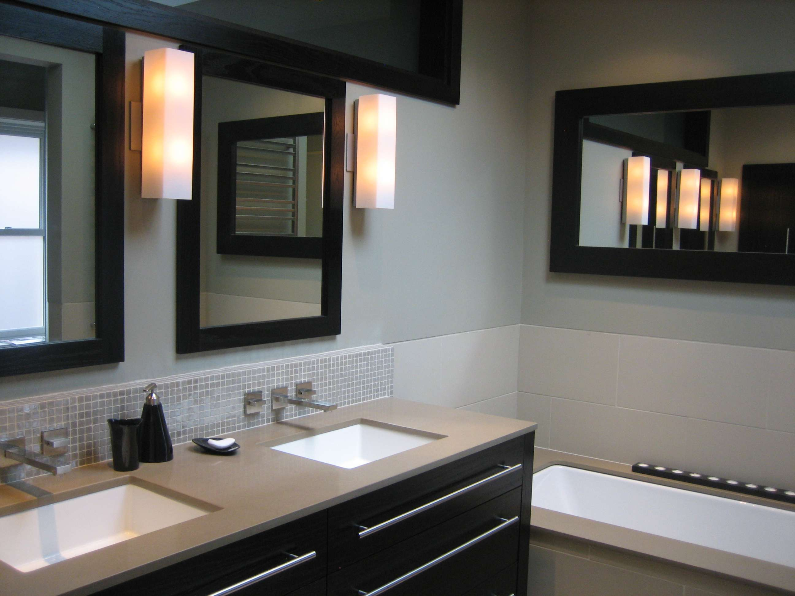 Modern Bathroom Renovation Mc Painting And Renovations