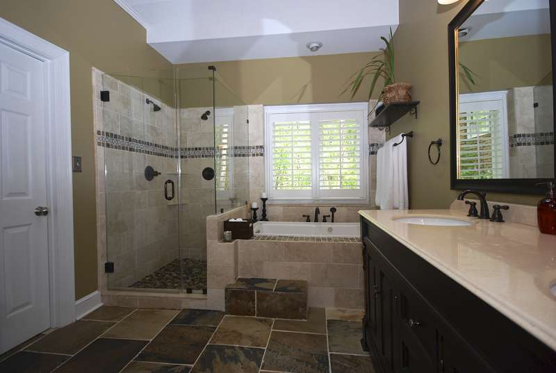 Custom Bathroom Renovation with whirlpool bathtub